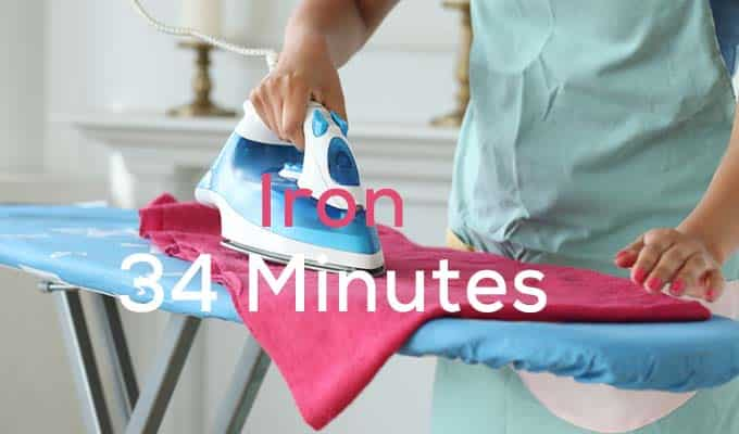 Ironing is Easy Ways To Burn 100 Calories